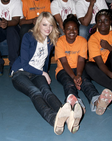 Emma Stone Andrew Garfield cancer research Worldwide Orphans Foundation nicest kindest celebrities humble charity