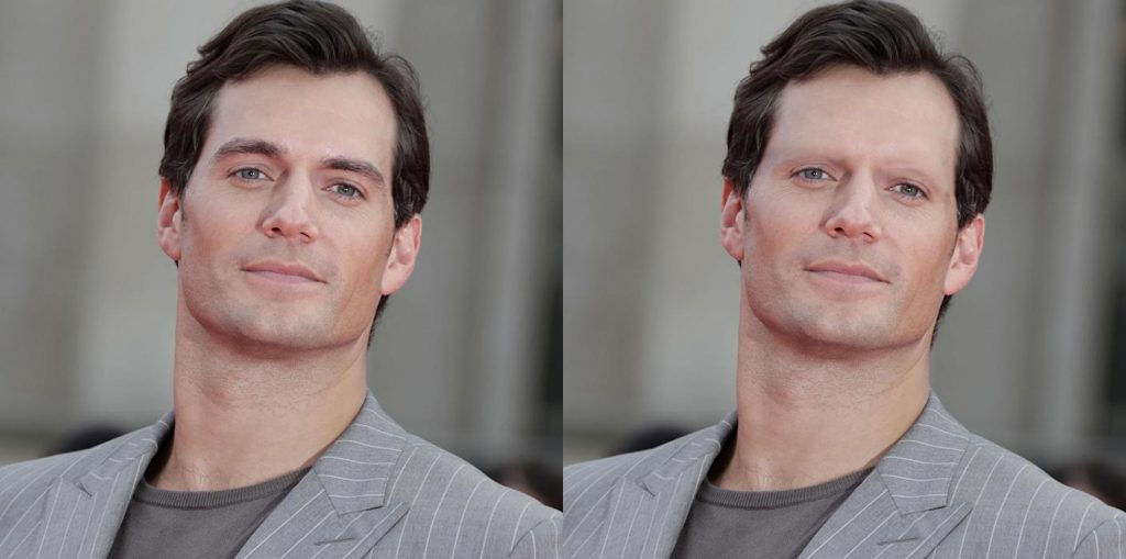 Henry Cavill without eyebrows